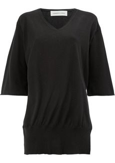 Lamberto Losani shortsleeved V-neck pullover - Black