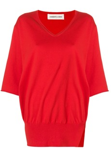 Lamberto Losani side slit jumper - Red
