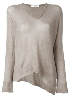 Lamberto Losani V-neck knitted blouse - Nude & Neutrals