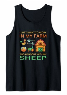 L.A.M.B. Work In Farm And Hangout With Ram Farm Animals Ewe Tank Top
