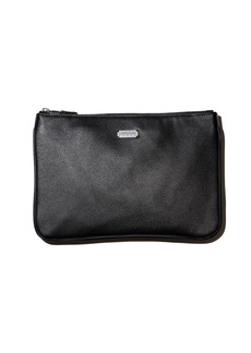 Lambertson Truex Large Pebbled Leather Zip Pouch