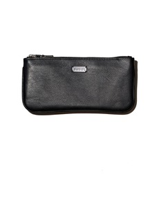 Lambertson Truex Medium Pebbled Leather Zip Pouch