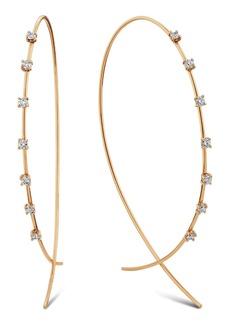 Women's Lana Jewelry Large Upside Down Diamond Hoop Earrings