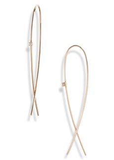 Women's Lana Jewelry Medium Upside Down Diamond Hoop Earrings