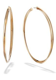 Lana Jewelry Crossover Royale Hoop Earrings