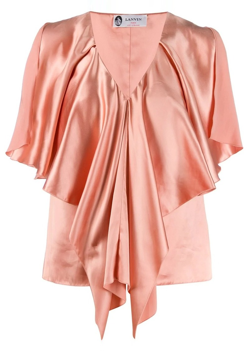 Lanvin v-neck draped top