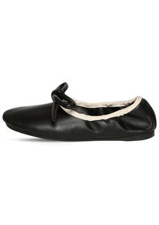 Lanvin 10mm Leather Ballerina Flats