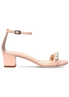 Lanvin 45mm Embellished Leather Sandals