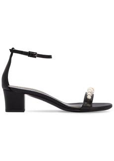 Lanvin 45mm Embellished Leather Sandals