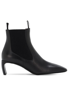 Lanvin 55mm Leather Ankle Boots