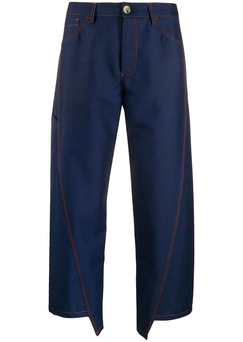 Lanvin asymetric hem trousers
