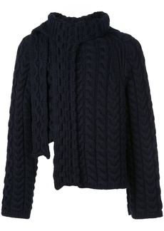 Lanvin asymmetric cable knit jumper