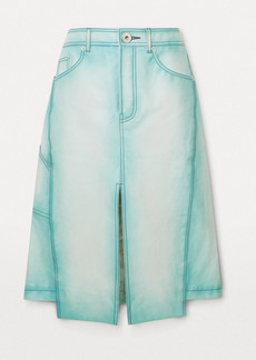 Lanvin Asymmetric Leather Skirt