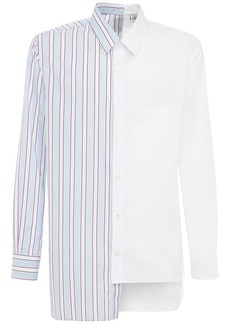 Lanvin Asymmetric Patchwork Cotton Long Shirt