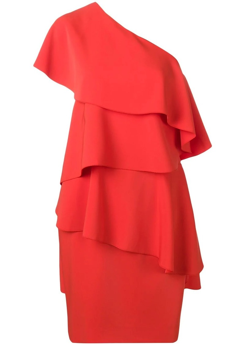 Lanvin asymmetric ruffled party dress