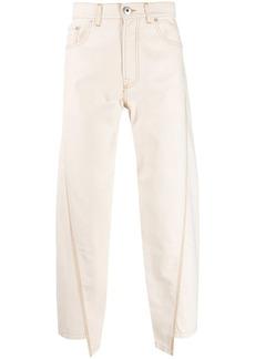 Lanvin asymmetric straight-leg jeans