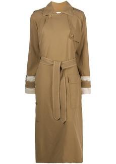 Lanvin asymmetric trench coat