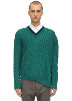 Lanvin Asymmetric Wool & Alpaca Blend Sweater