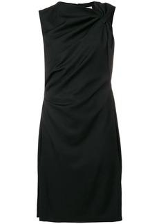 Lanvin asymmetrical collar draped dress