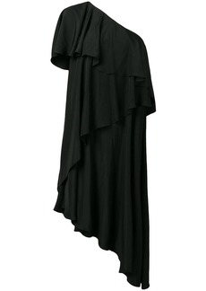 Lanvin asymmetrical ruffle dress