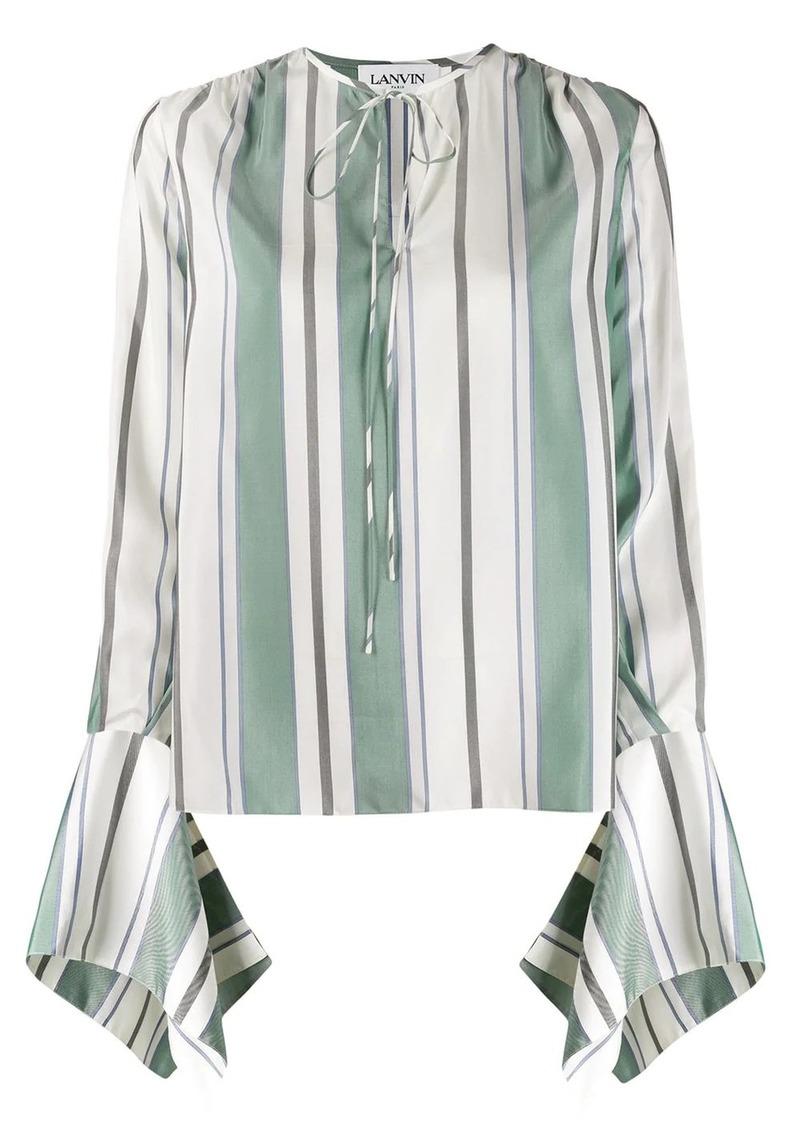 Lanvin awning stripe blouse