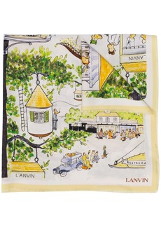 Lanvin Babar monkey-print scarf
