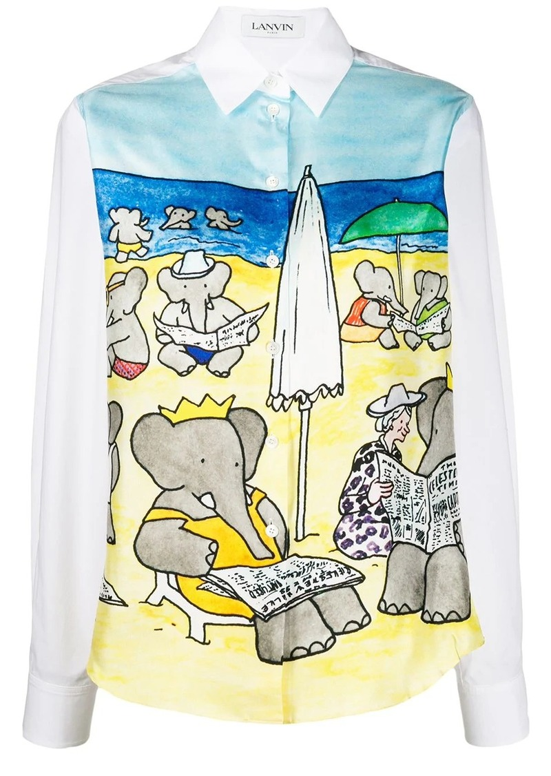 Lanvin Babar print shirt