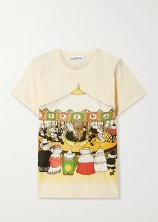 Lanvin Babar Printed Cotton-jersey T-shirt