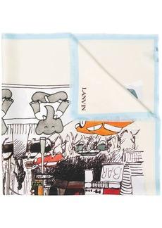 Lanvin Babar the Elephant print scarf