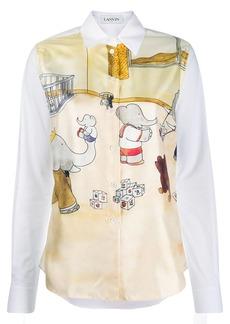 Lanvin Babar the elephant print shirt
