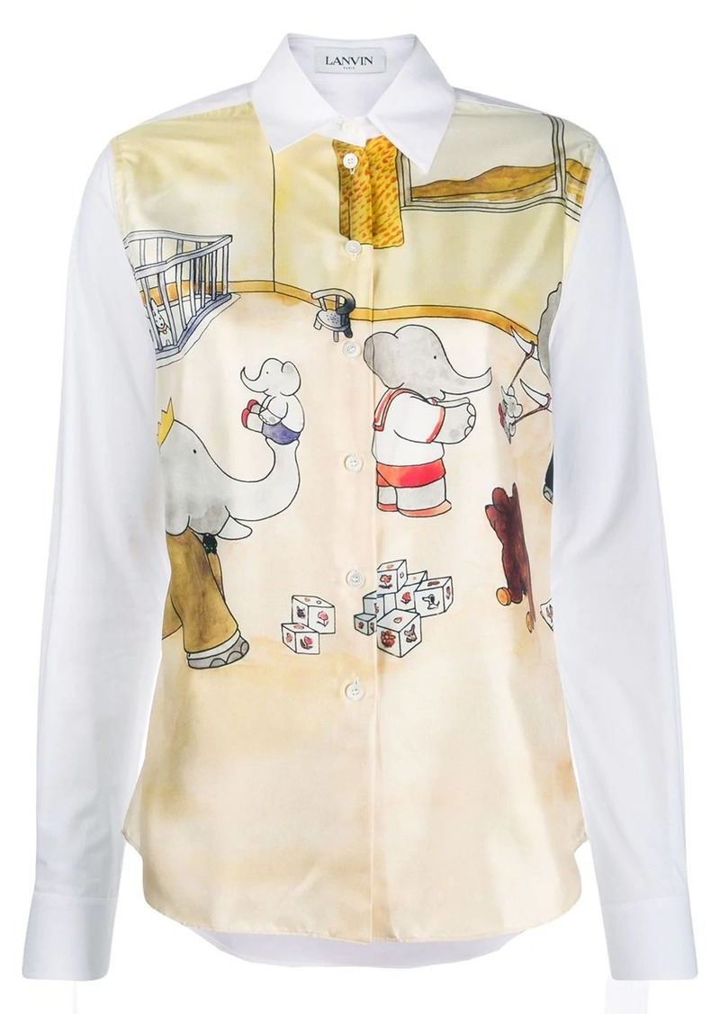 Lanvin Babar the elephant print shirt