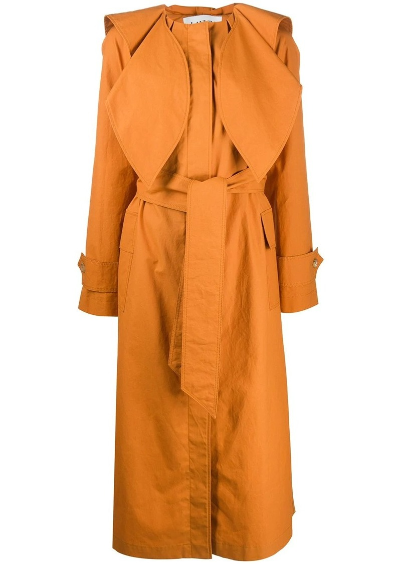 Lanvin belted scarf detail trench coat