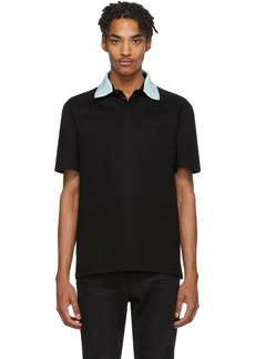 Lanvin Black Grosgrain Polo