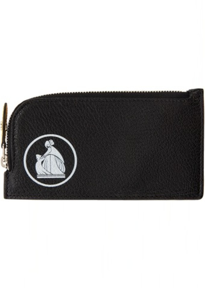 Lanvin Black Zipped Card Holder