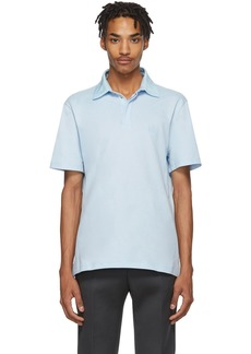Lanvin Blue Grosgrain Polo