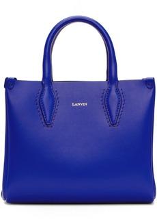 Lanvin Blue Mini Shopper Tote