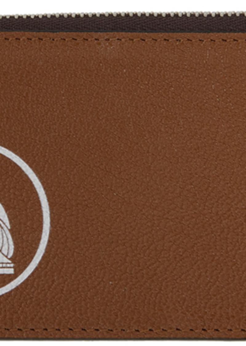 Lanvin Brown Zipped Wallet