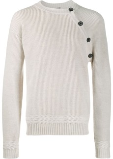 Lanvin button shoulder knitted sweater