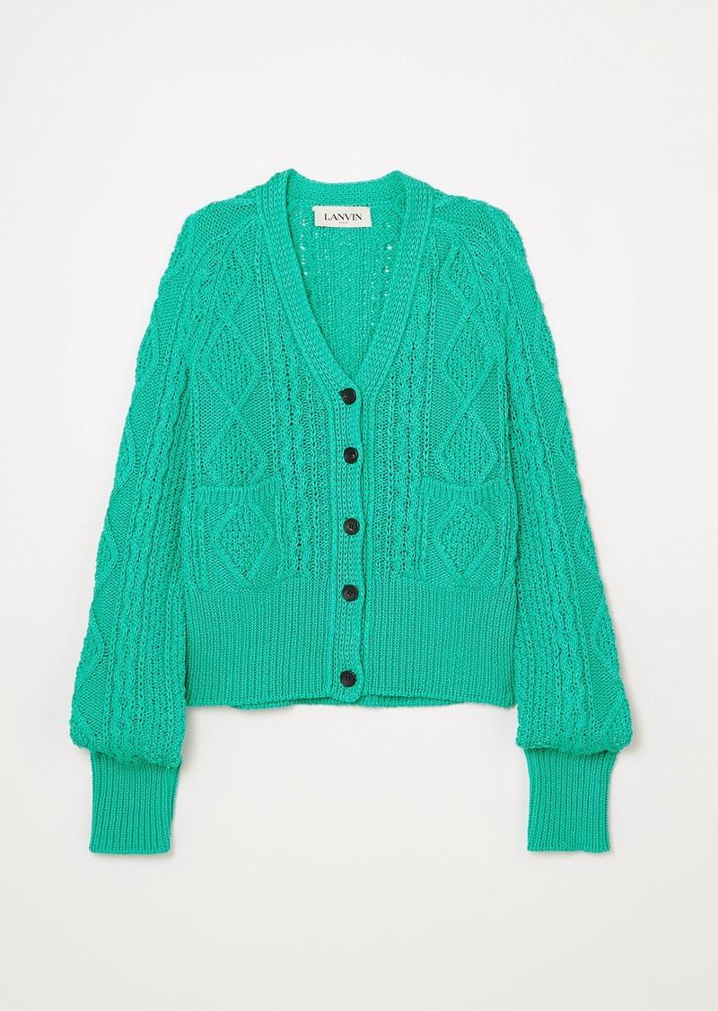Lanvin Cable-knit Cotton Cardigan