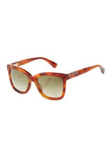 Lanvin Square Acetate Havana Sunglasses