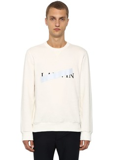 Lanvin Censored Logo Printed Cotton Sweatshirt