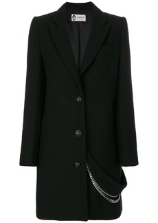 Lanvin chain embellished coat