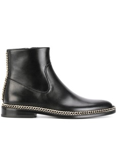 Lanvin chain trim ankle boots