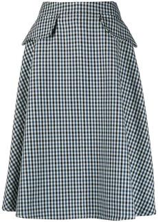 Lanvin check print A-line skirt