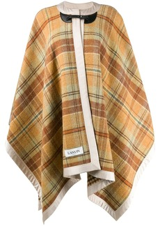 Lanvin check print cape