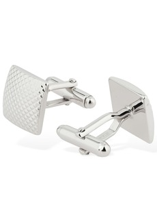 Lanvin Checked Embossed Square Cufflinks