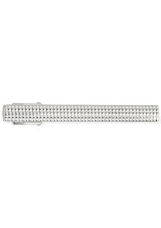 Lanvin Checked Embossed Tie Clip