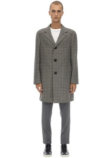 Lanvin Checked Wool Coat