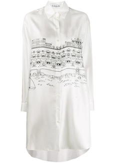 Lanvin cityscape shirt dress