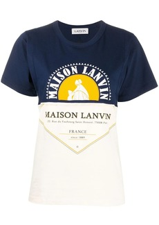 Lanvin colour block printed T-shirt